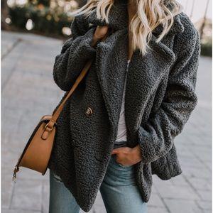 Jackets & Blazers - Soft pea coat - dark gray